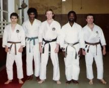 1979 Doncaster. L to R, Turaj, Dave Guthrie, Tim Shaw, Eddie Cox (England squad coach) Jeff Taylor.