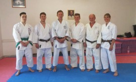 Tim Shaw teaching in Hungary.
