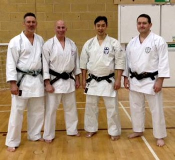 Shikukai Chelmsford Instructor Steve Thain with the current grandmaster of Wado Ryu.