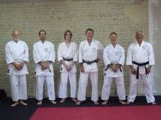 Tim Shaw at Steve Greenwood's Dojo in France.
