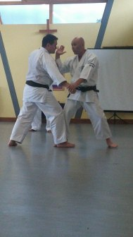 Sugasawa Sensei at Woodham Walter. A regular venue for Chelmsford courses.
