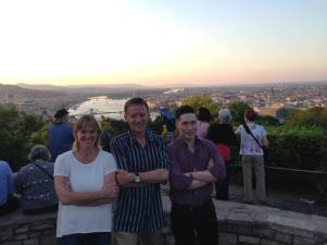 Sue Dodd, Tim Shaw and Andy Stokes on a recent course in Budapest.
