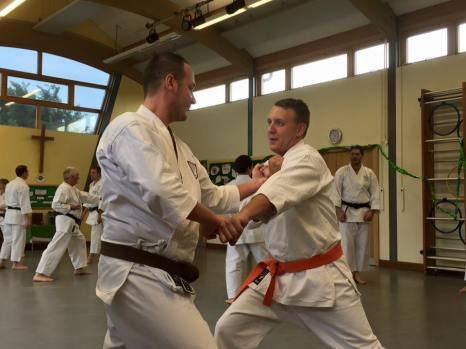 Tai Sabaki in kumite at a course in Woodham Walter.