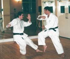 Steve Thain & Tim Shaw at Chelmsford Dojo 2006.