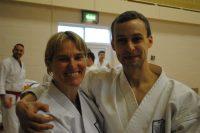 Sue Dodd and Shikukai Czech Republic instructor David Vlk.