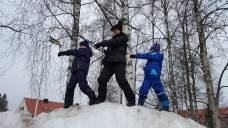 Training continues, even in Sweden.