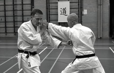 Tim Shaw & Martijn Schelen on a course in Holland.