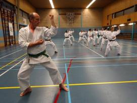 Shikukai Chelmsford students training in Holland.