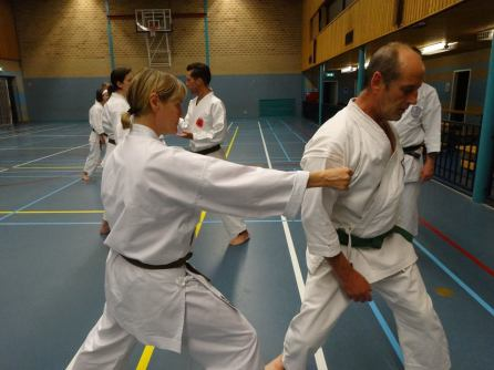 Students from Shikukai Chelmsford training in Holland.