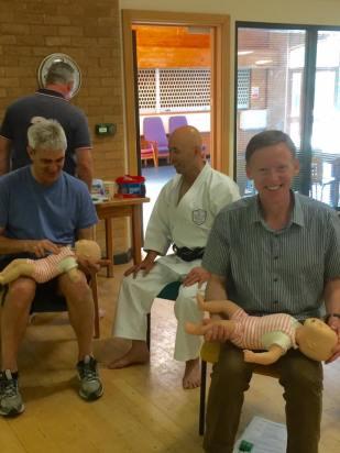Shikukai Instructors First Aid course.