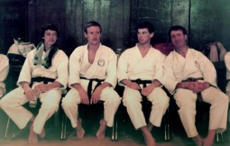 1984 UKKW summer course. L to R Keith Walker, Tim Shaw, Mark Harland, Jeff Taylor.