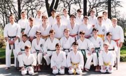 1987 Tim Shaw & students at Elmbridge School, Essex.