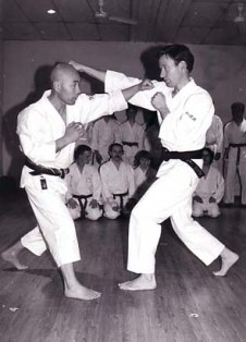 Sugasawa Sensei and Tim Shaw at the Chelmsford Dojo 1994.