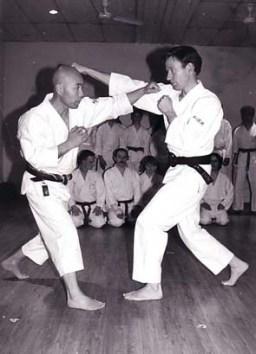 Sugasawa Sensei and Tim Shaw at the Chelmsford Dojo 1994.