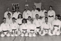Members of Shikukai Chelmsford with the late Grandmaster Ohtsuka Hironori II 1998.