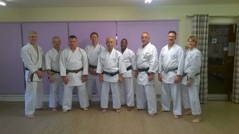 Sugasawa Sensei and Chelmsford members at an exclusive course organised in Leeds.
