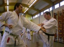 2008 - Senior class at Sugasawa Sensei's course at Shikukai Chelmsford. Doug and Daryl.