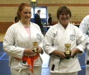 2009 Shikukai Championships Swindon. Junior ladies kumite; from Chelmsford, Stacy Revill 3rd, Sandra Revill 1st.
