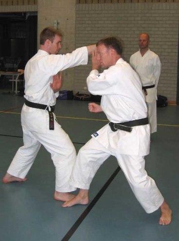 2007 Tim Shaw & Peter Van Bruystegem at a course in Belgium.