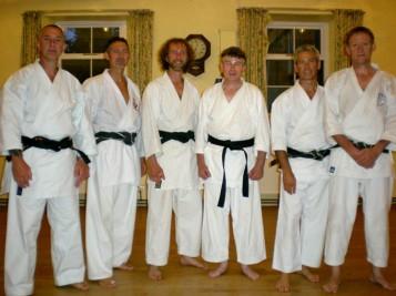 2009 - North Yorkshire reunion. Shikukai Chelmsford instructor Tim Shaw, far right. L to R. Mark Gallagher, Keith Walker, Jason Gallagher, Stuart Ogden and Mark Harland.