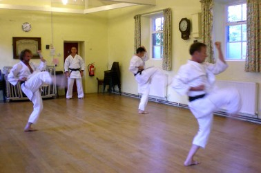 2009 - North Yorkshire reunion. Kata training, Mark Gallagher observes.