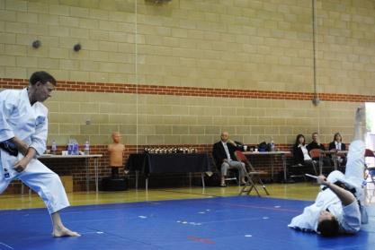 2013 - Tim Shaw throws Steve Thain in a demonstration of Tanto Dori at the Shikukai National Championships.