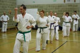 2012 - . Colchester, Sugasawa Sensei oversees practice of Pinan Sandan.