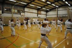 2011 - . Colchester, kata practice with Sugasawa Sensei.
