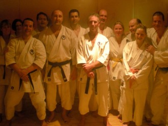 2010 - A bunch of sweaty but happy Shikukai Chelmsford regulars at the end of a very intense special winter training session.