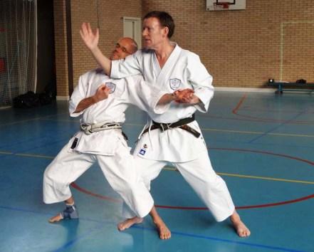 2014 - Tim Shaw instructing in Holland, with Martijn Schelen.