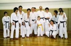 Shikukai Chelmsford students at Meiji University, Tokyo 2004.