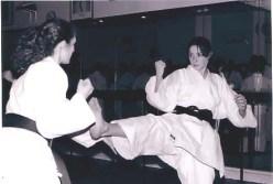 Ladies sparring at Shikukai Chelmsford.
