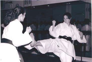 Ladies sparring at Shikukai Chelmsford.