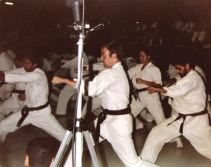 Tim Shaw training at the University of New Orleans 1979