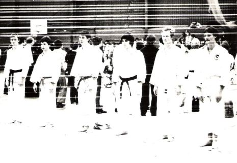 Open competition team event Peterlee 1980. Leeds YMCA team.