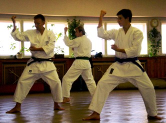 2008 - Shikukai Chelmsford instructor Tim Shaw teaching at the November course in Prague, Czech Republic.