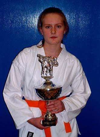 2005 Sarah Weaver of Shikukai Chelmsford winner of the girls kumite event.