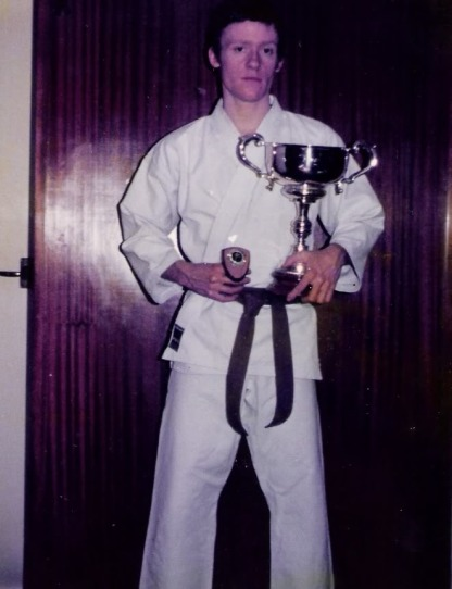 Tim Shaw as 1st kyu 1977.