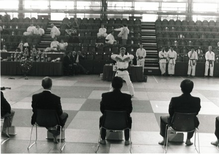 1995 Tim Shaw kata competition Crystal Palace.