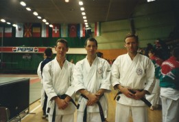 1996 L to R Gary Ockwell, Steve Rawson and Tim Shaw. European Championships.
