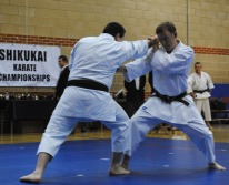 2012 - Shikukai Chelmsford instructors Steve Thain & Tim Shaw demonstrate at the Shikukai Championships.