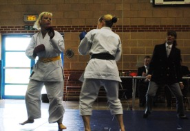 2012 - Shikukai championships, Ladies kumite final, Geraldine Deasley( L) and Teresa Allen.