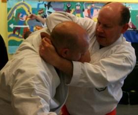 2009 - Wado & Wing Chun Seminar. Kyu grade students close range techniques.