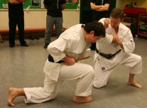 2009 - Wado & Wing Chun Seminar. Tim Shaw showing Idori, defence against Tanto and grip.