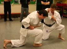 2009 - Wado & Wing Chun Seminar. Tim Shaw showing Idori, defence against Tanto and grip.