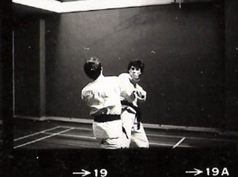 Tim Shaw and Mark Harland sparring at Leeds YMCA 1978