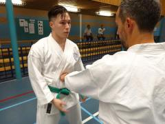 Chelmsford student Andrew Stokes training in Holland.