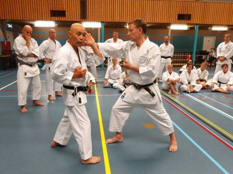 Sugasawa Sensei & Tim Shaw Sensei in Holland.