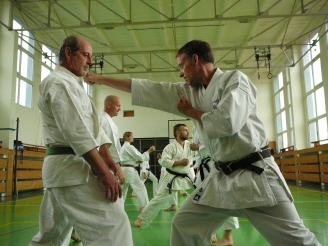 Shikukai Chelmsford members training in Prague November 2016.