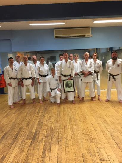 Shikukai Chelmsford thursday class with visitors from Holland.